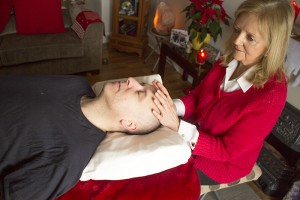 Spiritual healer Gretta treating a client in Waterford
